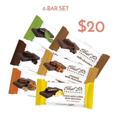 6-pk chocolate bar set $20usd