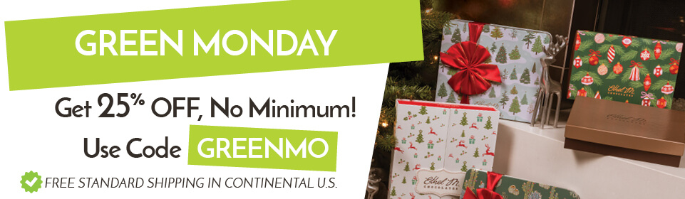 Green Monday! Get 25% off, no minimum! Use code GREENMO