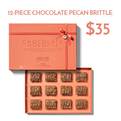 12-pc chocolate brittle $35usd
