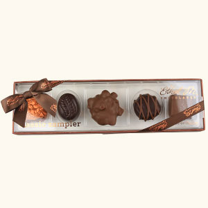 Design your own Chocolate Box with red ribbon