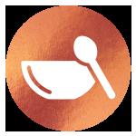 block image - chocolate bowl on copper icon