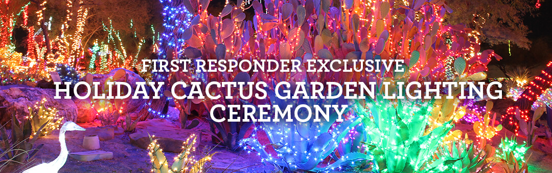 exclusive first responders banner with christmas cactus garden