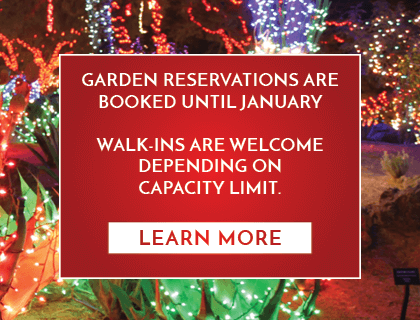 Holiday Cactus Garden reservations are fully booked