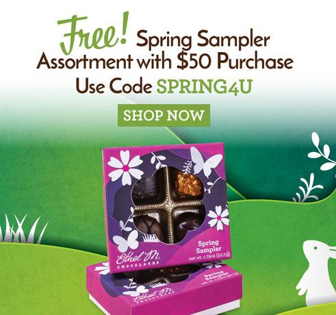 Free Spring Sampler when you spend $50. Use code SPRING4U