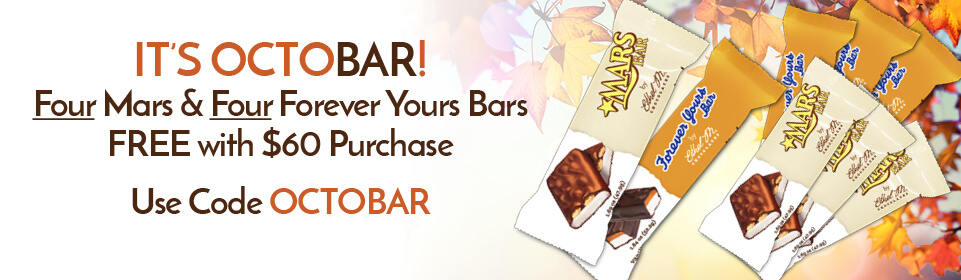 Four Mars and Four Forever Yours bars with $60 purchase