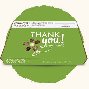 Design Your Own Chocolate Box with Thank You Sleeve