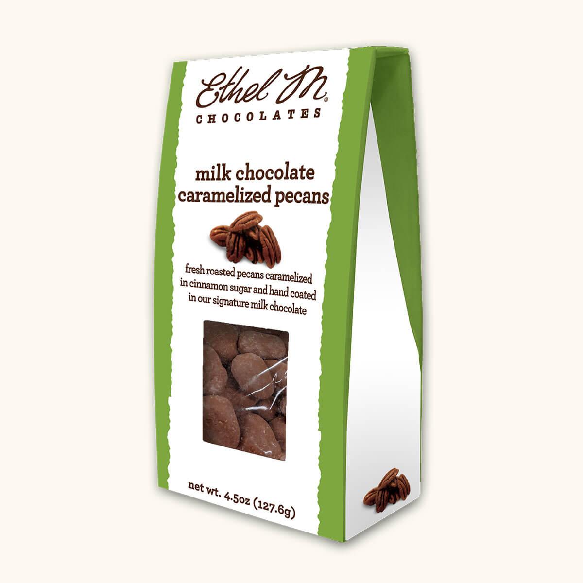 Milk Chocolate Caramelized Pecans