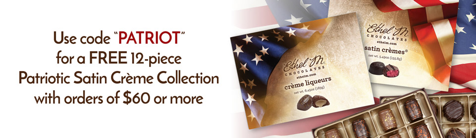Use code PATRIOT for a free Patriotic 12pc Satin Cremes Collection when you spend $60 or more