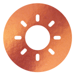 block image - sun on copper icon