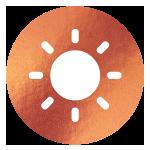 block image - sun on copper icon