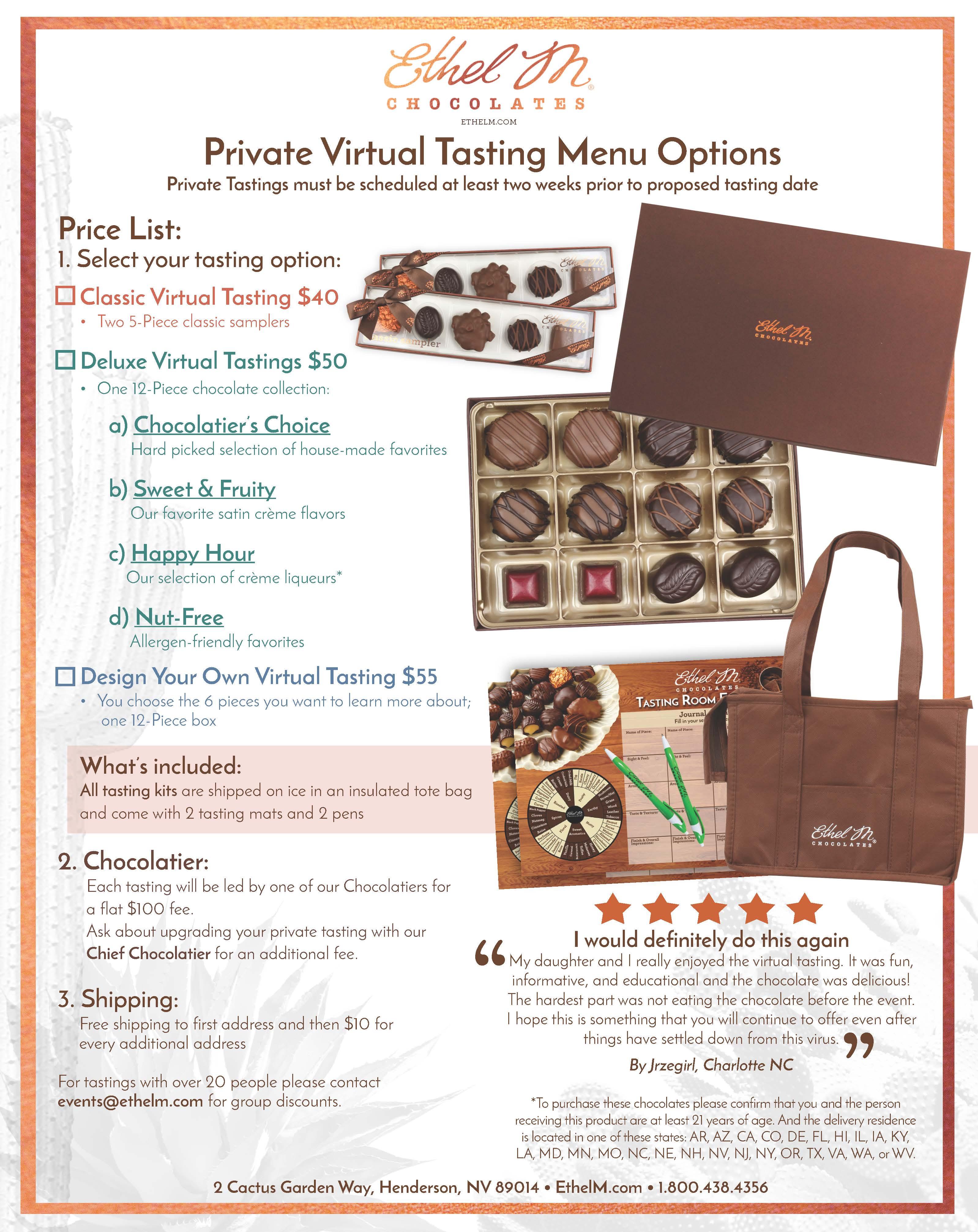 Private Virtual Tastings