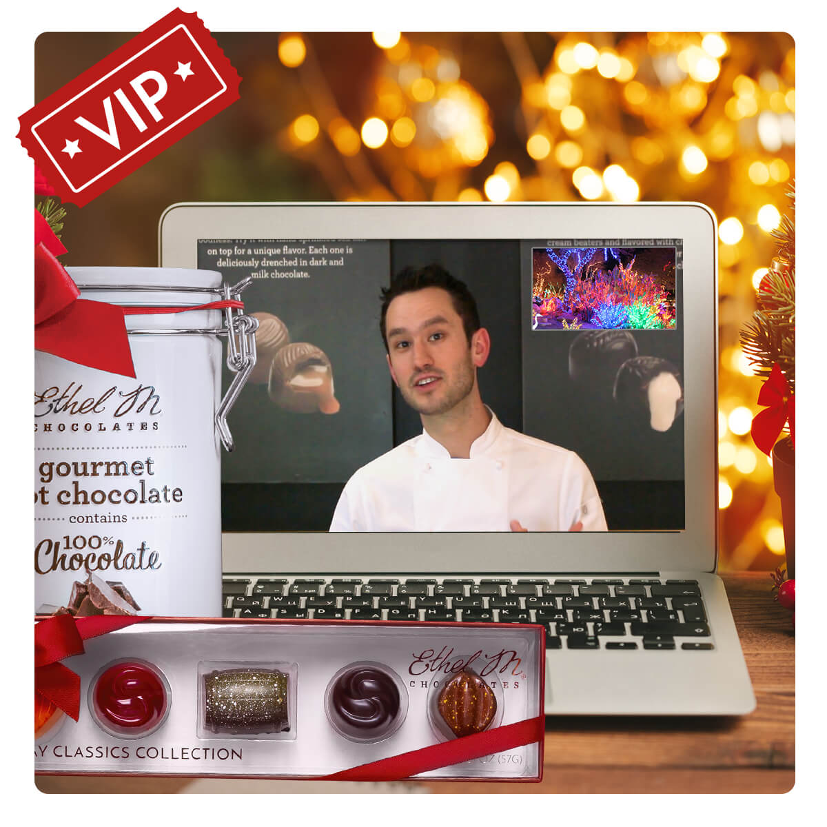 Hot Chocolate Tin and 5-Piece Holiday Colletion VIP package