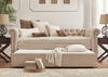 Barrington Beige Linen Daybed w/Trundle
