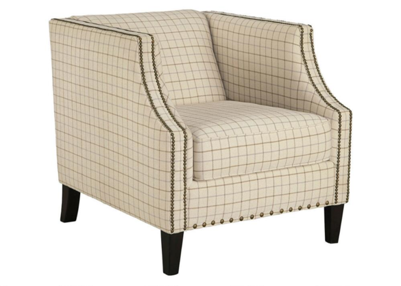 Kourtney Chair W Nailheads Natural The Roomplace