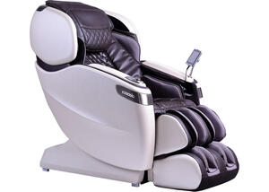 Tranquility Espresso and Pearl White Massage Chair