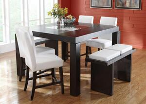 Broadway Counter Height White 5 Pc Dinette