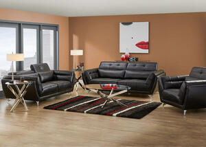 Mars Black 3 Pc. Living Room