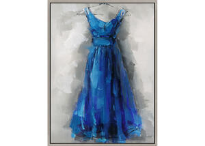 Blue Dress Wall Decor Blue