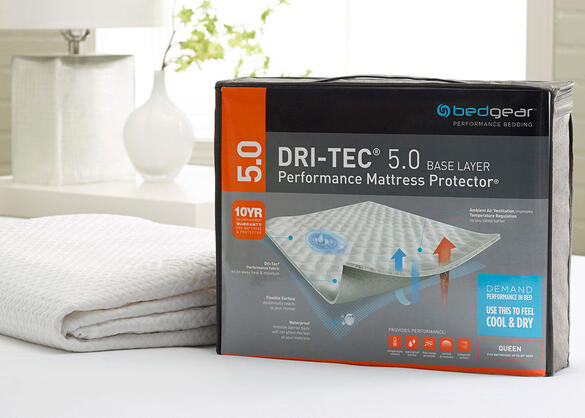 BEDGEAR 2-Pack Dri-Tec Twin Mattress Protector