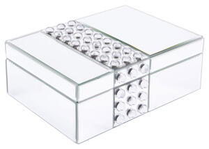 Lucite Mirrored Box Gray