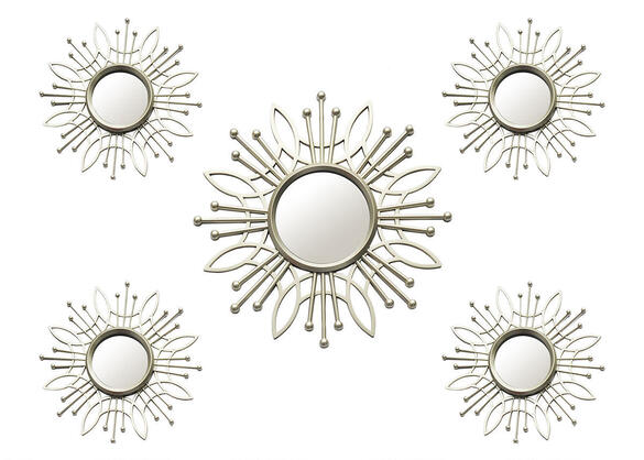 Burst 5 Pc. Wall Mirror Champagne