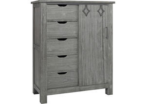 Lucca Weathered Gray Chifforobe by Dolce Babi