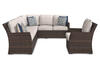 Province 3 Pc. Sectional Brown