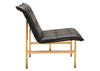 Slate Chair Black And Gold Black