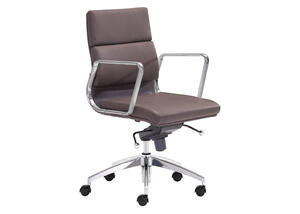 Engineer Espresso Low Back Office Chair