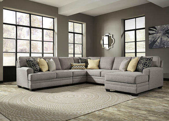 Claudine 5 Pc. Sectional w/Chaise