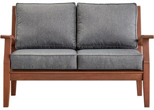 Newport Brown Loveseat