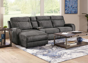 Mercury 4 Pc. Power Reclining Sectional (Reverse)