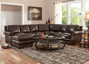 Genoa Chocolate 4 Pc. Sectional (Reverse)