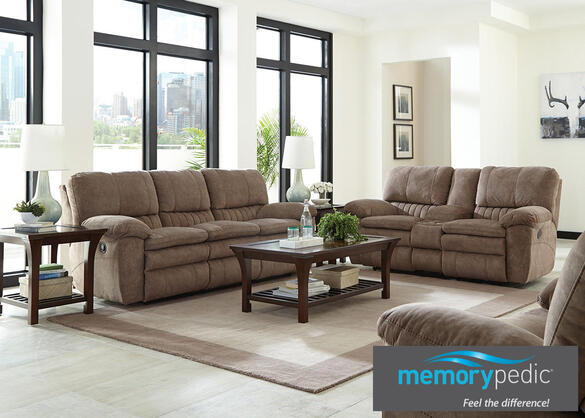 luke beige 3 pc power living room the roomplace