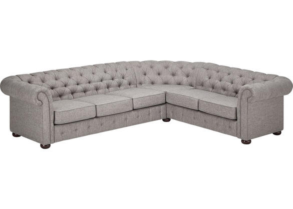 Barrington Gray Linen 6-Seat Sectional