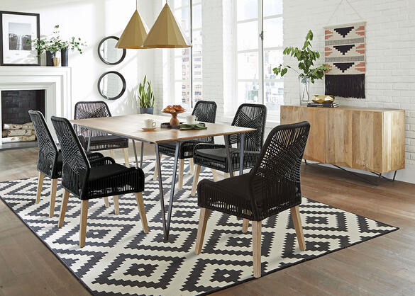 Sundance Black 7 Pc. Dining Room Black