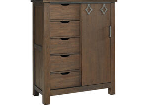 Lucca Weathered Brown Chifforobe by Dolce Babi