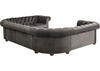 Barrington Charcoal Velvet 9-Seat U Sectional
