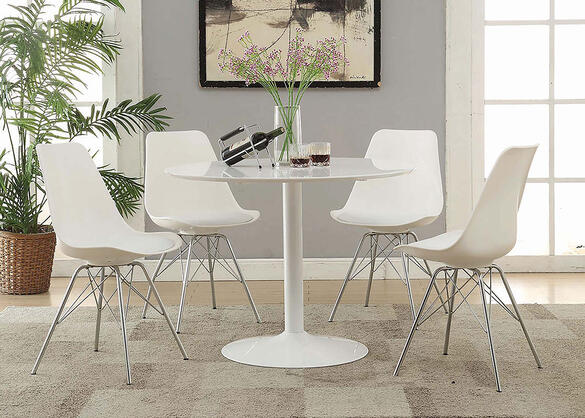 Lowry White 5 Pc. Dinette