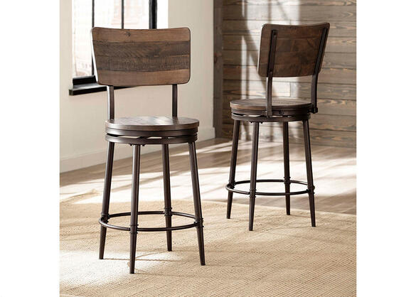 Jennings Swivel Counter Stool Walnut