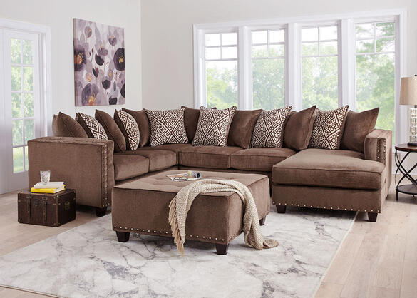 Bristol Brown 3 Pc. Sectional