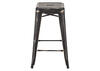 Marius Cntr Stool Black Gold Yellow/gold