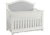 Naples Snow White Upholstered Convertible Crib by Dolce Babi