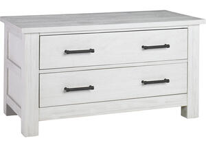 Lucca Sea Shell White 2 Drawer Chest by Dolce Babi