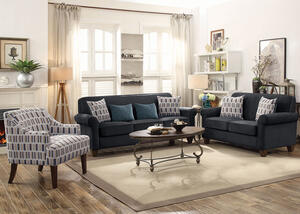 Gideon Charcoal 3 Pc. Living Room