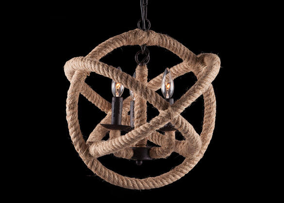 Bowline Ceiling Lamp Brown