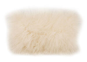 Lamb Fur White Rectangle Pillow