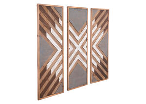 Corners 3 Pc. Wall Decor Brown