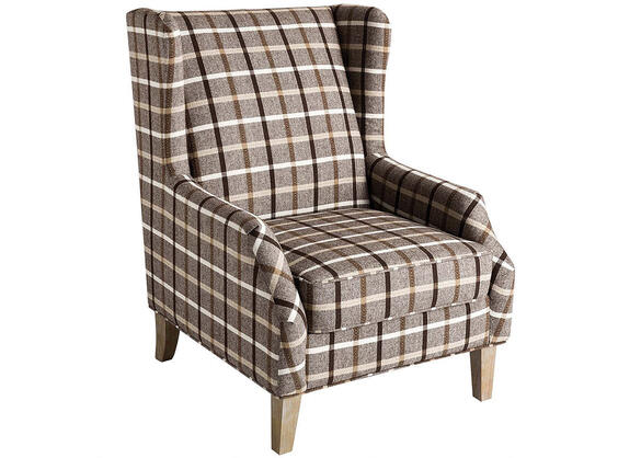 Traditional Neutral Brown Accent Chair by Scott Living