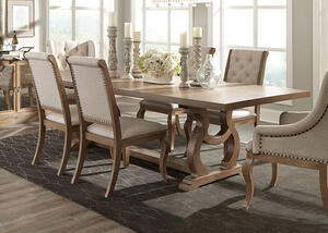 Glen Cove Barley Brown Dining Table by Scott Living